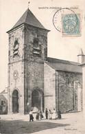 19 Sainte Fereole Le Clocher Eglise Cpa Carte Animée - Other Municipalities