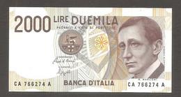 Italia - Banconota Non Circolata FdS Da 2000 Lire P-115a.1 - 1990 #19 - 2000 Lire