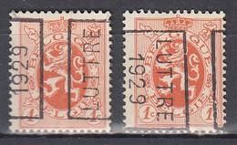 4963 Voorafstempeling Op Nr 276 - LUTTRE 1929 - Positie A&B - Rollo De Sellos 1920-29