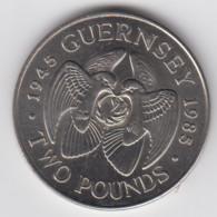 Guernsey 1985 Liberation £2 Coin Condition V.good Circulated - Guernsey