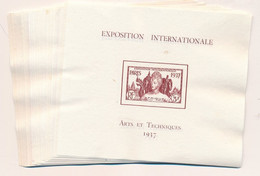 ED-132: COLONIES GENERALES: Lot De 23 Blocs Neufs Sans Gomme  De 1937 (des Doubles) - 1937 Exposition Internationale De Paris