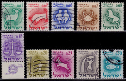 Israel 1961, Signs Of The Zodiak, Used - Gebraucht (ohne Tabs)
