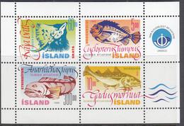 ISLAND, Block 21, Postfrisch **, Nutzfische, 1998 - Blokken & Velletjes
