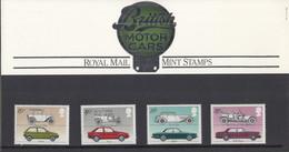 GROSSBRITANNIEN 929-932, Postfrisch **, Britische Automobile Im Set Mit 4 MC Ohne Stempel Und Marke, 1982 - Covers & Documents