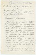 Cayenne Le 29 Février 1944.le Président Du Cercle St-Hubert à M.Jean Rapenne Gouverneur,Président D'Honneur St-Hubert - Other