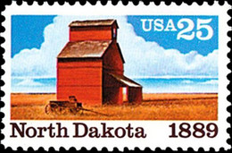 1989 25 Cents North Dakota, Mint Never Hinged - Ungebraucht