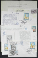 ARGENTINE ANTARCTICA: Lot Of 5 Covers And Cards With The Handwritten Signature Of Argentine Antarctic Explorer JORGE LEA - Sin Clasificación