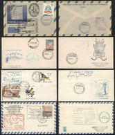 ARGENTINE ANTARCTICA: 19 Covers Or Cards Flown Between Different Cities Of Argentina And Various Antarctic Bases, Severa - Sin Clasificación
