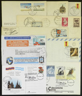 ARGENTINE ANTARCTICA: 9 Covers With Cancels Of Varied Argentine Antarctic Bases, Interesting! - Sin Clasificación