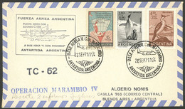 ARGENTINE ANTARCTICA: Cover Carried On Special Flight Of MARAMBIO Antarctic Station Of 28/SE/1971, With Airplane Hércule - Sin Clasificación