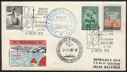 ARGENTINE ANTARCTICA: 9/JA/1973 Tourist Cruises To Antarctica, FIRST TRIP Of The Cruiser Libertad, With Special Handstam - Sin Clasificación