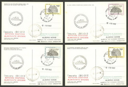 ARGENTINE ANTARCTICA: ALMIRANTE BROWN Antarctic Station, Used Postal Cards GJ.98/101 With Special Marks And Datestamp Of - Sin Clasificación