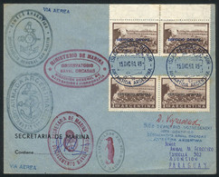 """ARGENTINE ANTARCTICA (ORKNEY ISLANDS): Cover Franked With Official Stamps Sent From """"Islas Orcadas Del Sur"""" To PARAGUAY  - Sin Clasificación"""