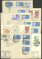 CHILEAN ANTARCTICA: 7 Covers With Nice Postmarks Of Chile Antarctic Stations, Several Signed On Front Or Back, VF Qualit - Sin Clasificación