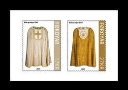 Faroe Islands 2021 Mih. 1028/29 Church Textiles (III) (self-adhesive) MNH ** - Faroe Islands