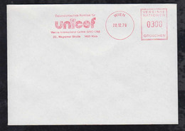 UNO Wien 1979 Meter Cover UNICEF - Briefe U. Dokumente