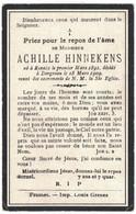 MONSIEUR ACHILLE HINNEKENS NE A RENAIX 1891 DECEDE A DERGNEAU 1909 - Overlijden
