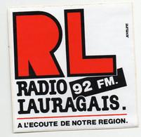 (TSF) Autocollant  RADIO LAURAGAIS  (PPP32196) - Adesivi