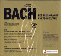 BACH Les Plus Grands Chefs-d'oeuvre - Gustav LEONHARDT - Sous Blister 3 CD - Classica