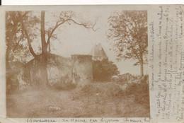 Carte Photo Ecoyeux (17 Charente Maritime) Le Château Du XIeme Siècle 1902 - Andere Gemeenten