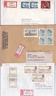 Deutschland Berlin - 3 R-Briefe Nach Luxemburg, Echt Gelaufen (8.630) - Briefe U. Dokumente