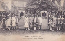 Cpa RUFFEC 18 SEPTEMBRE 1921 CHAISES A PORTEURS JEUNES SEIGNEURS - Ruffec