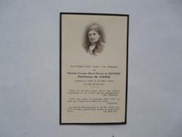 VIEUX PAPIERS - SOUVENEZ-VOUS DANS VOS PRIERES DE Madame De NECKERE COMTESSE DE VIENNE 1944 - Devotion Images