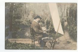 Arts Et Peinture Salon 1901 Le Paysagiste Au Travail Colorisée - Pittura & Quadri