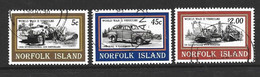 Norfolk Island 1995 WWII Vehicles Part Set Of 3 FU - Norfolk Island