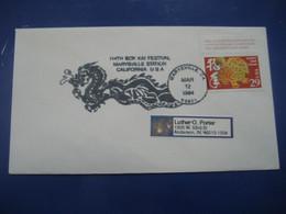 MARYSVILLE 1994 Bok Kai Festival China Cancel Cover USA - Briefe U. Dokumente