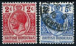 Honduras (Británica) Nº 84/85 Nuevo*/º - British Honduras (...-1970)