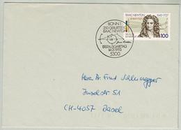 Deutschland 1993, Brief Ersttag Isaac Newton Bonn - Basel, Physiker / Physicien / Physicist - Fisica