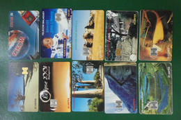 B1/ LOT DE 10 TELECARTES DE MADAGASCAR VOIR PHOTOS POUR DETAILS RECTO VERSO - Sammlungen