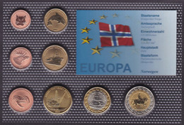Set Of Norway 8 Euro Coins Trial 2004 - Non Classificati