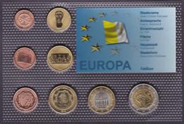Set Of Vatican 8 Euro Coins Trial 2010 - Non Classificati