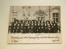 Document ( 873 )  Photo  Grote Foto ( 17 X 12,5 Cm )  Ypres  Ieper   Sint - Vincentiuscollege - Old (before 1900)