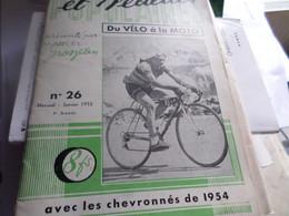 Champions Et Vedettes N°26 Janvier55  Du Velo A La Moto  Marcel Albert - Sport