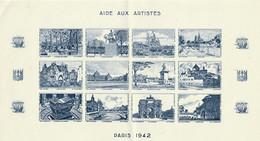 AIDE AUX ARTISTES - PARIS 1942 - Blocs & Carnets
