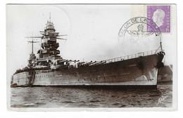 65 SM - SALON DE LA MARINE 1945 - CUIRASSÉ DUNKERQUE - Cachet à Date 8 Juin 1945 (2 SCAN) - Posta Marittima