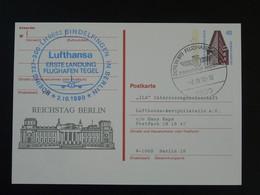 Entier Postal Stationery First Landing Boeing 737 Tegel Airport 1990 Berlin Ref 100139 - Postkarten - Gebraucht