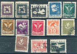 BULGARIA 1946 Airmail Definitive Used.  Michel 534-46 - Gebraucht