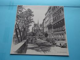 QUAI D'ORLEANS PARIS > Afbeelding KUNSTKALENDER Jaren 1950/60 ( H.J. REESINK > Zutphen ) Formaat Groot > Zie Scan - Altri