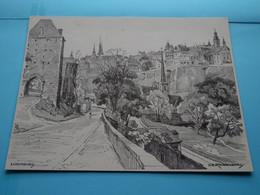 LUXEMBURG > Afbeelding KUNSTKALENDER Jaren 1950/60 ( H.J. REESINK > Zutphen ) Formaat Groot > Zie Scan - Altri