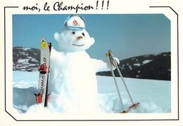 France Postcard 1992 Albertville Olympic Games Snowman With Albertville Hat - Mint (T24-5) - Invierno 1992: Albertville