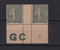 France N° 130 Paire Avec GC , Neuf **   , TB - Ongebruikt