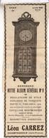 RARE PUB SUR PAPIER - 1907 - D'HORLOGERIE -  LEON CARREZ - CHAMPAGNOLE - JURA -  VINTAGE - Orologi Da Muro