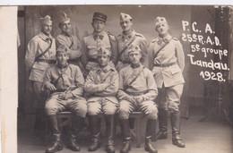 Photo De Particulier 1928 Groupe De Militaires Allemagne Landau 25 E Régiment Artillerie Réf 10408 - War, Military