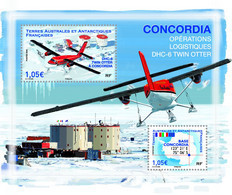 Fsat 2020 Taaf Antarctic Base CONCORDIA Avion DH6 TWIN OTTER Flag Map Ms2v Mnh - Nuevos