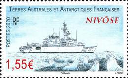 Fsat 2020 Taaf Antarctic Boat Ship Vessel Barca Boot Le Nivôse 1v Mnh ** - Nuevos