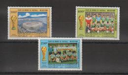 Cameroun 1986 Football Mexico 86 PA 350-51 Et 352 3 Val ** MNH - Camerún (1960-...)